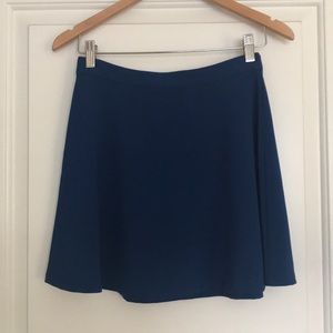Forever 21 Fit and Flare Skirt Small S blue NWOT